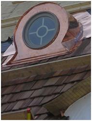 Copper portal w-cedar